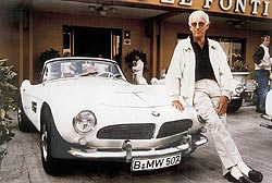 Albrecht Goertz and BMW 507, June 2005