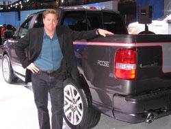 Custom car designer Chip Foose with the Foose F-150