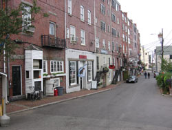 Ceres Street in downtown Portsmouth, New Hampshire