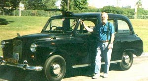 Author and his 1969 Austin FX4D London Taxi