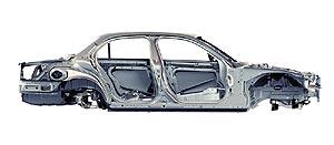 2004 Jaguar XJ aluminum monocoque body