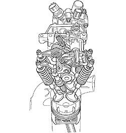 2006 Honda Odyssey illustration: Variable Cylinder Management (VCM) components