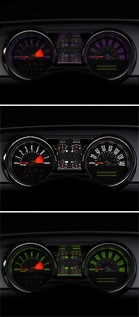 2005 Ford Mustang colour-configurable gauges
