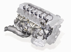 BMW 3.0-litre, twin-turbo inline six cylinder engine