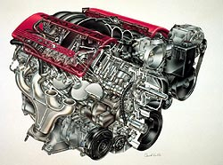 2001 Chevrolet Corvette LS6 engine