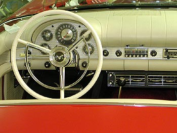 Interior of Jim Kerr's 1957 Ford Thunderbird