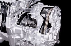 Continuously variable tranmission mated to Nissan's HR15DE four-cylinder engine