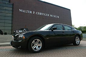 2006 Dodge Charger R/T in front of the Walter P. Chrysler Museum