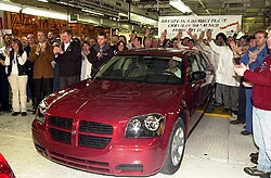 Manufacturing launch of the 2005 Dodge Magnum at DaimlerChrysler's Brampton Assembly Plant
