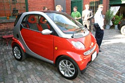 City dwellers might like to take the diminutive Smart for summer transportation