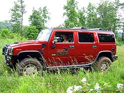 Jil McIntosh driving the Hummer H2 at Nemacolin Woodlands off-road course