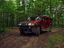 Hummer H2 at Nemacolin Woodlands off-road course