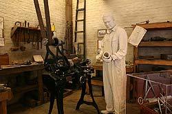 Walter Chrysler in his workshop