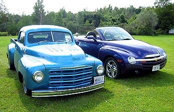 1949 Studebaker and 2005 Chevrolet SSR