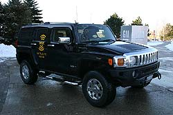 Hummer H3, XM's vehicle at the event