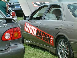 Scene from 2004 DarkNights custom-car show