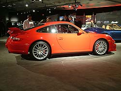 Porsche Carrera 4S with factory aero kit, sports exhaust,and wheels