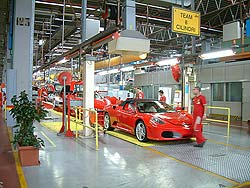 F430s rolling down the line