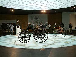 First cars: Gottlieb Daimler and Karl Benz