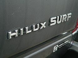Rear badging for 1990 Toyota Hilux Surf Limited