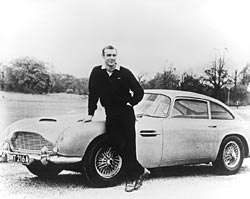 Sean Connery and Aston Martin DB5