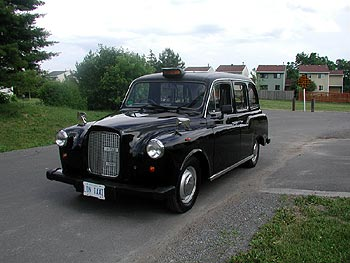 The author's newly imported London Taxi