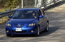 Paul Williams drives the 2004 Mazda3 Sport