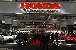 Honda stand at the show