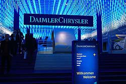 DaimlerChrysler stand at the show