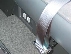 AC outlets are located inside cab, as well as in the box