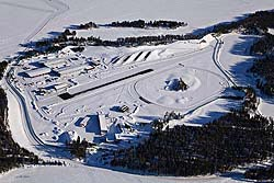 BMW's winter test facility at Arjeplog, Sweden