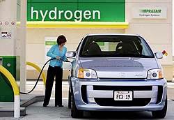 Honda FCX refuelling