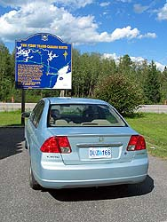Mid point of the Trans-Canada Highway