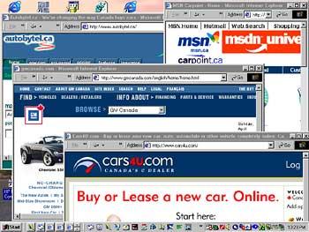 Car buying collage