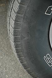 Non original-equipment P-metric rated tires