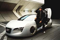 Will Smith emerging from the Audi RSQ