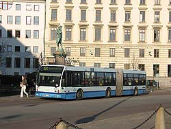 articulated Volvo bus