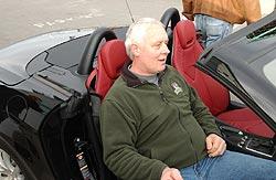CandianDriver's technical editor Jim Kerr enjoying the comfort of the Mercedes-Benz SLK 350