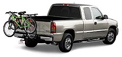 GMC Sierra Extended Cab with Assist Steps and Bike Carrier