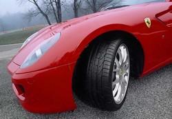 Pirelli had this Ferrari on hand for track testing