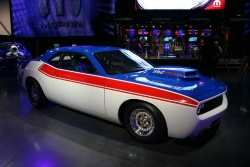 Not only was the original Dodge Challenger concept car at the show, but the company unveiled a special Super Stock version of it.