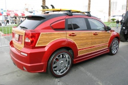The Dodge Caliber makes a perfect little surfer's woody wagon