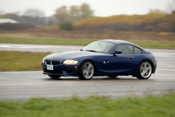 2007 BMW M Coupe taking a flogging on the track