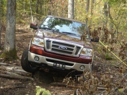 Ford F-150 on the off-road course