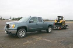 GMC Sierra performing towing test