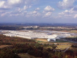 Aerial view of BMW's Spartanburg, SC plant
