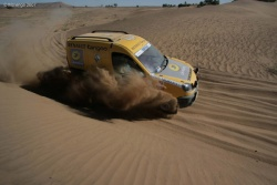 While the SUV teams had an easier route, they still had to tackle sand at times.