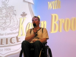 Kevin Brooks was paralyzed in a crash when he was 20 years old