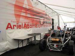 The Brammo Motorsports/Ariel Atom Experience trailer
