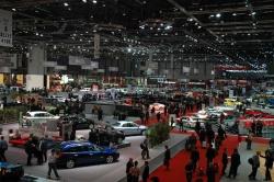 Automotive journalists at the Geneva Auto Show